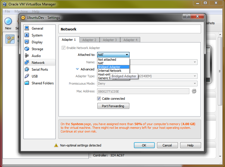 Access your VirtualBox guest localhost from your host OS (Example)