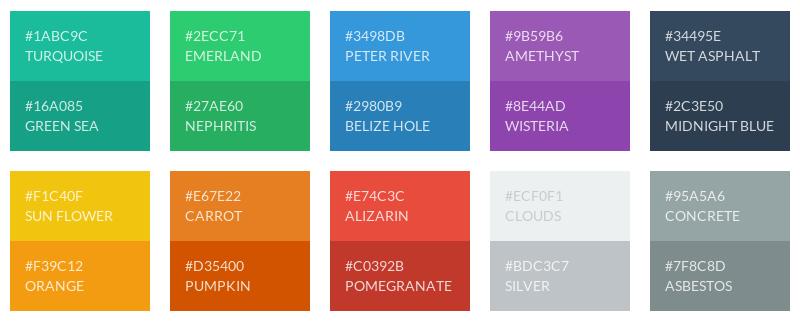 Flat UI Color Palette For Inkscape Gimp Example
