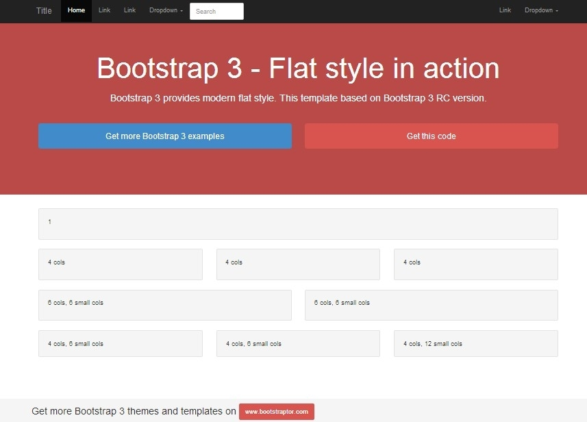 Bootstrap 3 RC examples and templates (Example)
