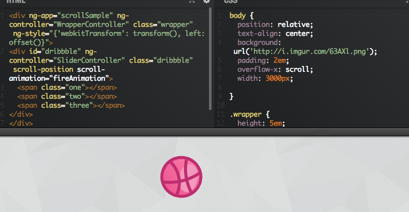 AngularJS: Scroll Animations (Example)