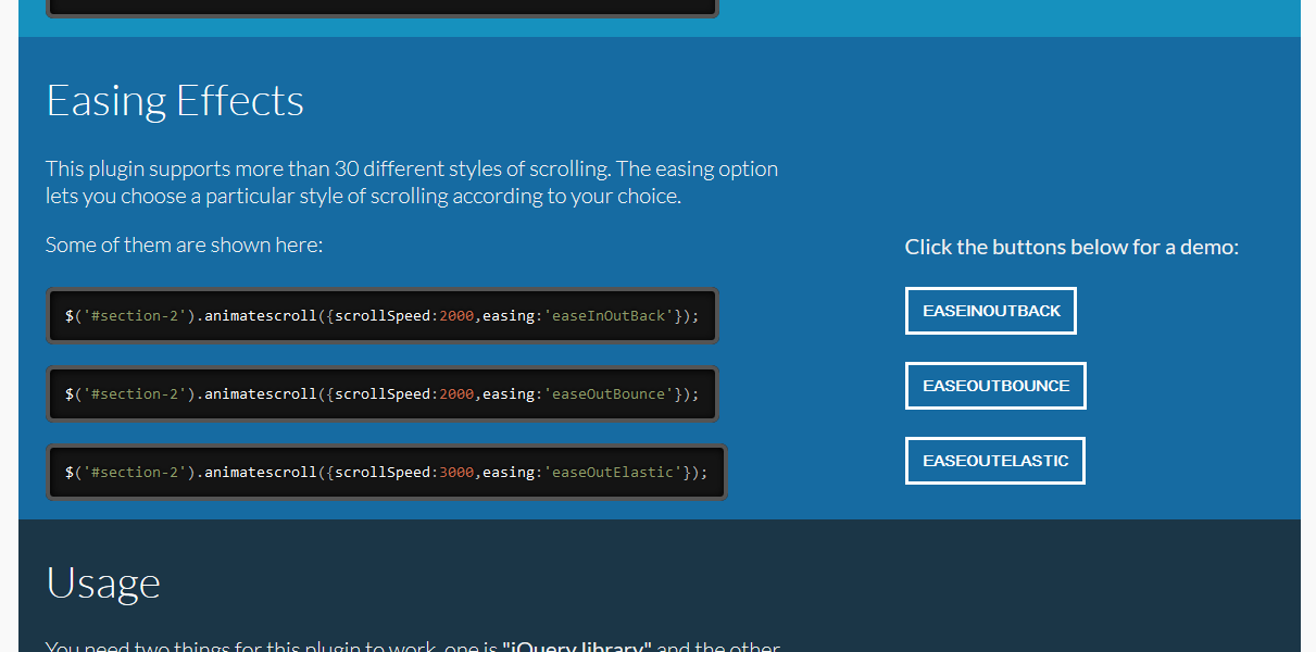 A Simple jQuery Plugin for Animating Scroll (Example)