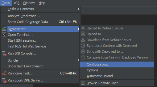 RubyMine 6 0 Remote Ruby SDK + debugging (Example)