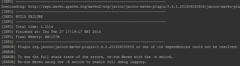 Stopping maven from trying to access its Central Repository (Example)