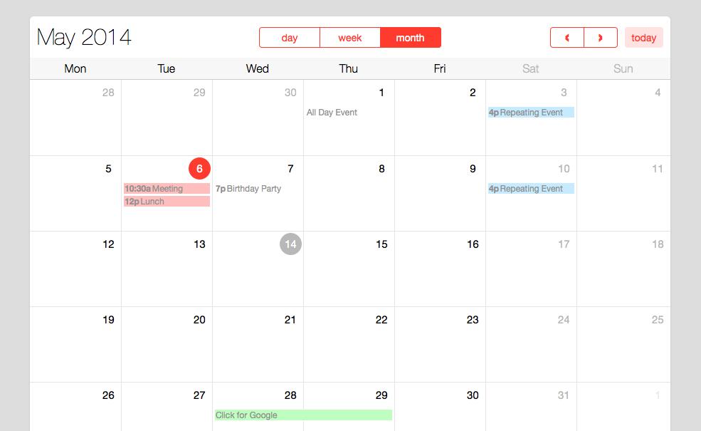 Full Calendar Plugin With New Design Example