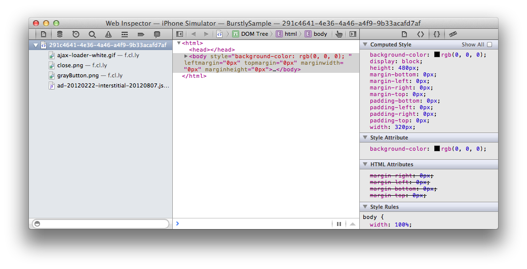 Debug HTML/JavaScript on iOS with Safari 5&6 (Example)